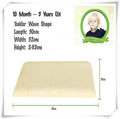 First Pillow Kids Toddler Cot to Bed Transition Pillow Memory Foam 30cmx52cm