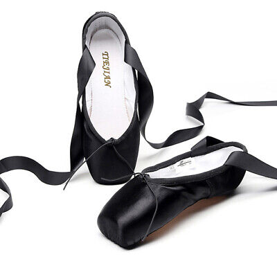 New Brand Ballet Dance Shoes Quality Satin Pointed Ballet shoes For Girls Women