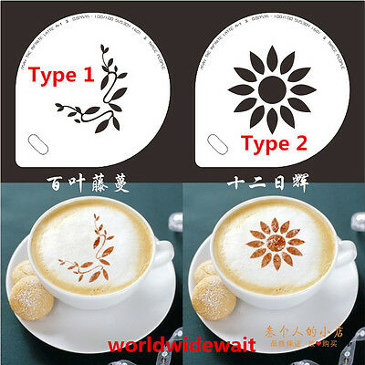 Stainless Steel Coffee Cappuccino Cocoa Dredger Pattern Mould