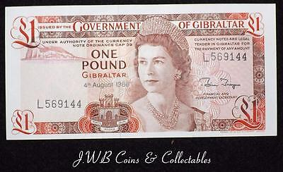 1988 Gibraltar £1 One Pound Banknote Uncirculated