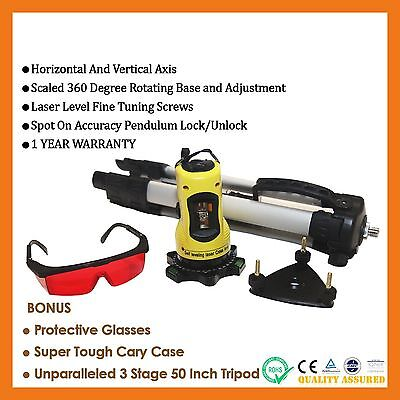Self Leveling Cross Line Laser Level Rotating Rotary Dual Axis Pendulum Tripod