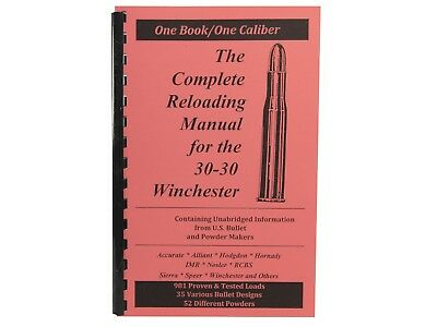 .30-30 30-30 Winchester  Reloading Manual LOADBOOK USA Great!