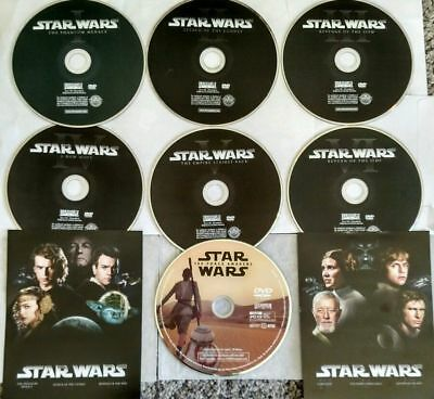 Star Wars: The Complete Saga Dvd 1-7 Prequel & Original Trilogy + Force Awakens