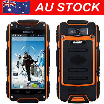 """4"""" Discovery V8 Smartphone Dual Core Rugged Android 4.2 Mobile Cell Phone Orange"""
