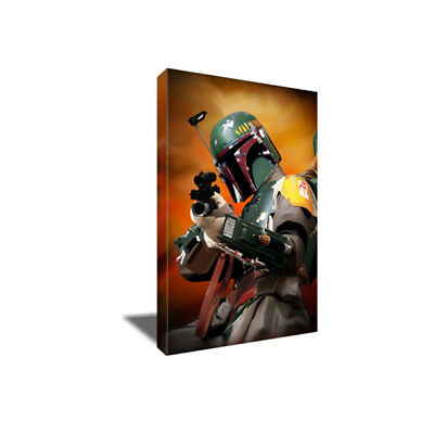 Star Wars Bounty Hunter BOBA FETT Poster Photo Painting Artwork CANVAS Wall Art