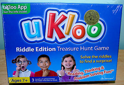 UKLOO Literacy Educational Game RIDDLE Treasure Hunt Problem Solving NEW Sealed