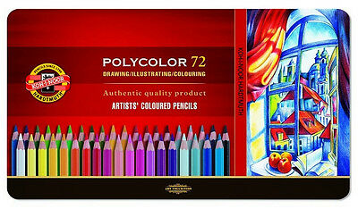 Buntstifte KOH-I-Noor POLYCOLOR 72 FARBEN 3827 Coloured pencils POLYCOLOR