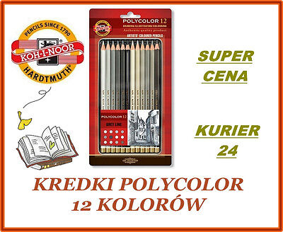 Buntstifte KOH-I-Noor POLYCOLOR GRAY 12 FARBEN 3822 Coloured pencils POLYCOLOR