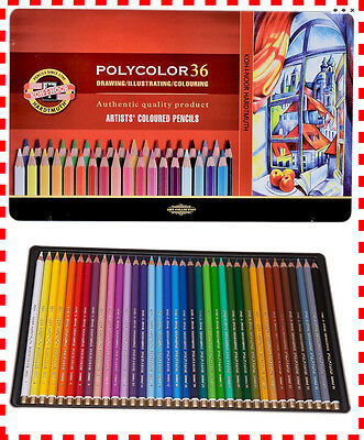Buntstifte KOH-I-Noor POLYCOLOR  36 FARBEN 3825 Coloured pencils POLYCOLOR