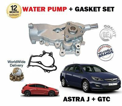 For Vauxhall Opel Astra J + Gtc 1.2 1.4 Turbo 2009--> New Water Pump + Gasket