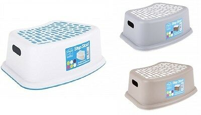 Step Stool Non Anti Slip Toilet Potty Training Kids Children Kitchen New Palstic