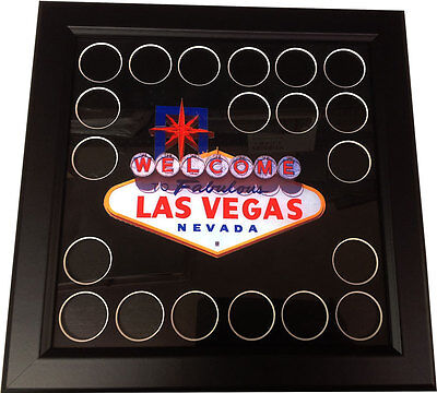 Welcome To Fabulous Las Vegas Full Color 20 Chip Frame Collectible Casino Chips*
