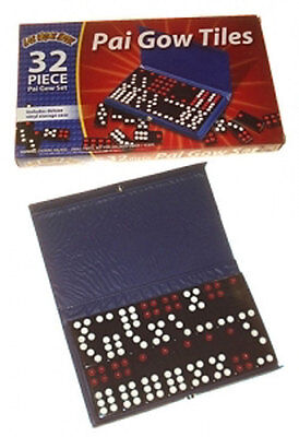 32 Pai Gow Tiles (Chinese Domino) Set in Vinyl CASE New Item FREE SHIPPING *