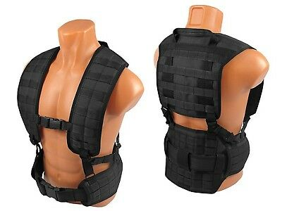 Russian Vest military army paintball black airsoft chest rig AK molle pals