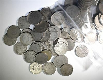 """Lot of 153 Liberty """"V"""" Nickels -- NICE MIX OF RARE COINS!!"""