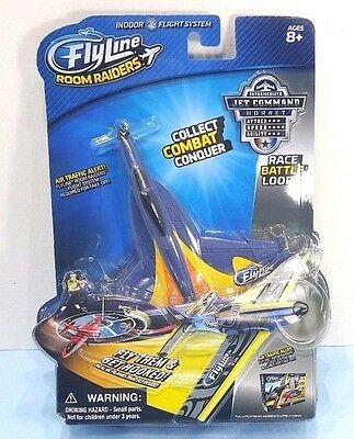 New FlyLine Room Raiders Indoor RC Flight System Jet Command Hornet
