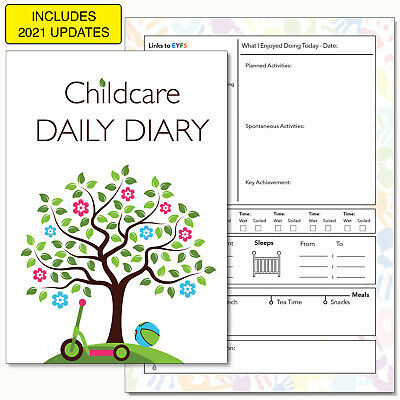 Childcare Diary, Childminders Daily Book, Eyfs Record Keeping, Early Years -10