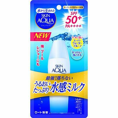 Rohto Skin Aqua UV Moisture Milk Sunscreen Super Water Proof SPF50+/PA++++ 40mL