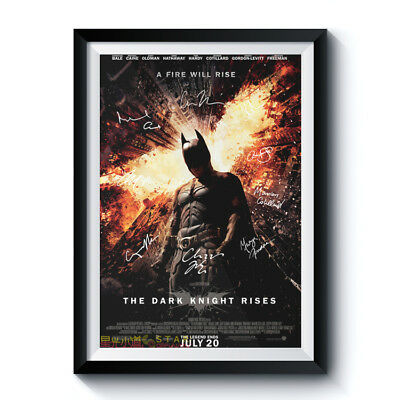 THE DARK KNIGHT Signed Poster A3 Reprint Batman Movie Casts Autographed 210001