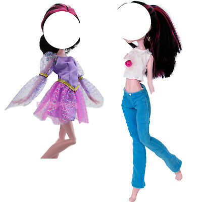 "Purple Mini Dress Daily Party Outfit Summer Clothes For Monster High 10"" Doll G"
