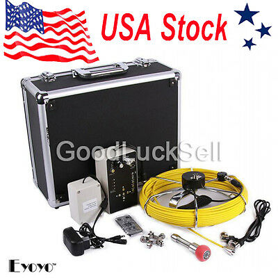 "7"" LCD 30M Sewer Updated Camera Pipe Pipeline Drain Inspection Snake Cam 8GB USA"