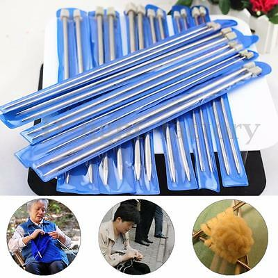22Pcs 2.0-8.0mm 11Sizes Stainless Steel Crochet Knitting Single Pointed Needles