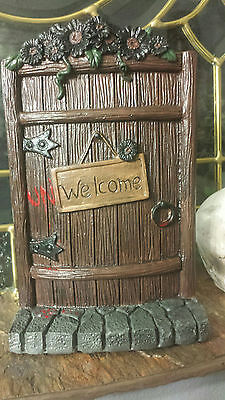 Fairy door, mouse door, Unwelcome Halloween decoration, doorway to middle earth