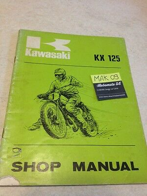 Kawasaki KX125 KX 125 125KX revue technique manuel atelier workshop service