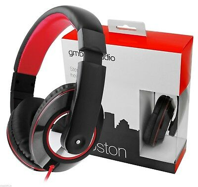 New Gembrid Boston Phone Tablet Computer PC Stereo Headphone Headset