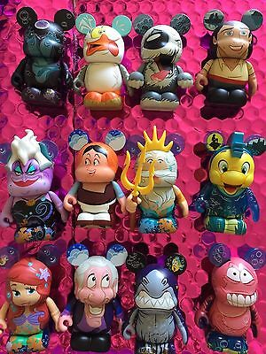 "Disney Vinylmation 3"" The Little Mermaid Complete set of 12 with Chaser"