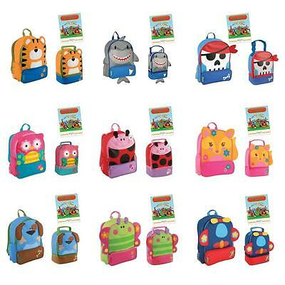 Stephen Joseph Sidekicks Backpack Preschool School Lunch Pals Bag Box Set New