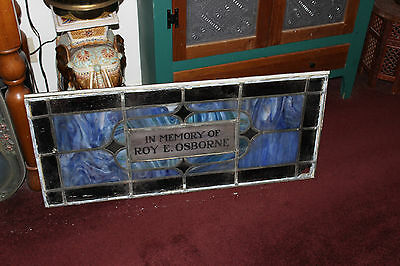 Antique Stained Glass Leaded Church Window-Religious-Roy Osborne-LARGE