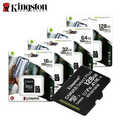 Kingston 8GB 16GB 32GB 64GB 128GB 256GB Micro SD SDHC SDXC MicroSDXC Class10 IT