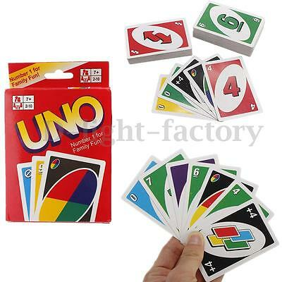 Standard Fun w/ 108 UNO Playing Cards Game For Travel Family Friend Instruction