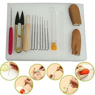 New Needle Felting Starter Kit Wool Felt Tools Mat + Needles + Accessories Craft