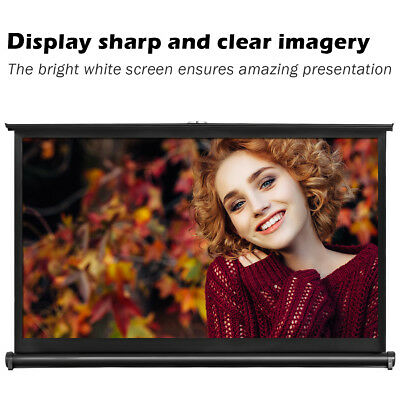"""40"""" 16:9 Table Office Desk Top Projector Screen Portable Manual Home Business"""