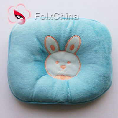 Bunny Blue Pillow Newborn Infant Baby Support Cushion Pad Prevent Flat Head