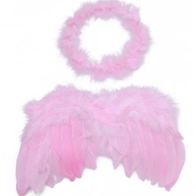 Chic Newborn Baby Infants Feather Wings Fairy Angel Party Costume Photo Prop LG
