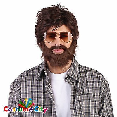 Adults Las Vegas Hangover Wig & Beard Set Alan Stag Do Fancy Dress Accessory