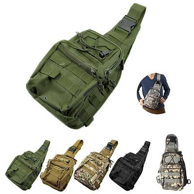 Men Military Tactical Backpack Rucksacks Sports Hiking Camping Camo Shoulder Bag