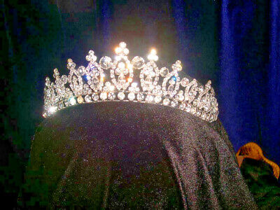 """Miss Beautiful"" Tiara Silver Plated and Handmade with Austrial Crystals"