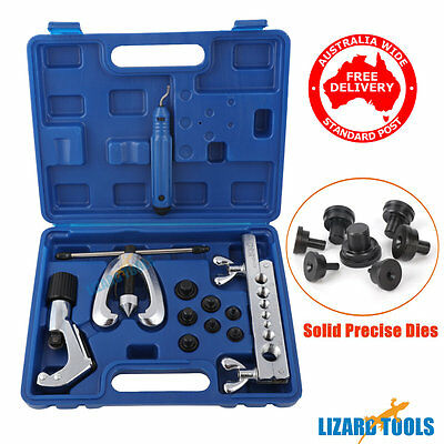 Pro 7 Dies Double Flaring Tube Pipe Flare Tool Kit Deburrer  Brake Lines  T0217