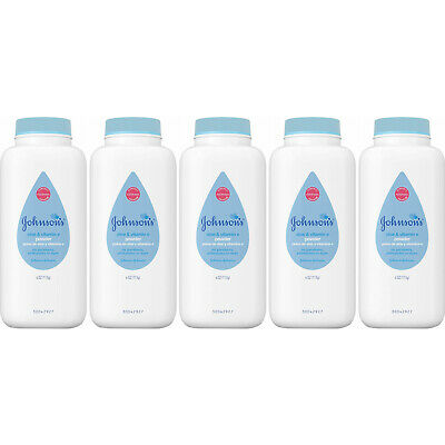 5 Pack - Johnson's Baby Powder Pure Cornstarch with Aloe & Vitamin E 4oz Each