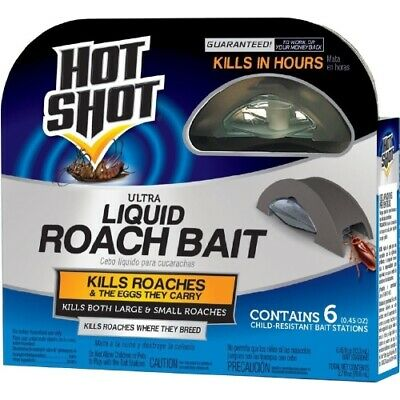 Hot Shot 95789 Mini Ultra Liquid Roach Bait, 6 Count Each