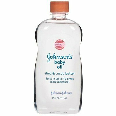 2 Pack - Johnson's Baby Oil with Shea & Cocoa Butter 14 fl oz Each
