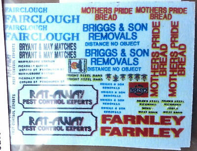 Langley Models Vehicle Decals set 2 for Lorries Trucks N Scale Model Decals NT3