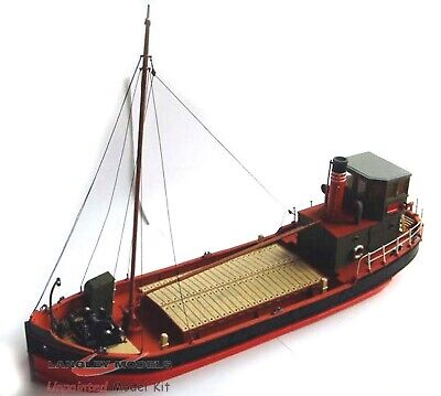 O Scale Unpainted Models Kit  67ft Clyde Puffer Boast /Ship Waterline Flat OM2