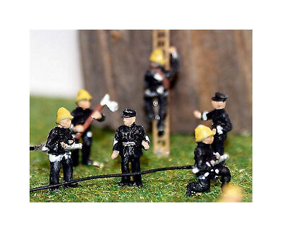 N Scale Model READY MADE & PAINTED 6 x Firefighters / Firemen Figures A106p