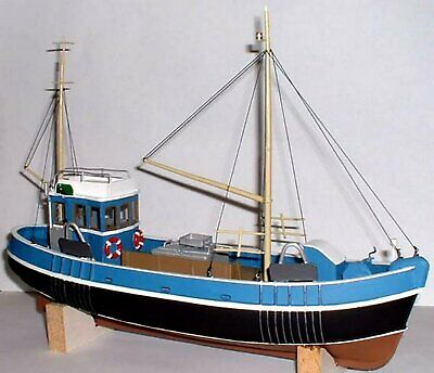 O Scale Unpainted Models Kit  45ft Fishing Trawler (Waterline) Boat / Ship OM1A