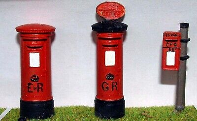 O Scale Unpainted Model Kits  British English Post Boxes Letter Boxes  x3  L2